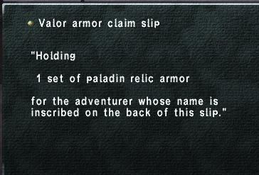 PLD claim slip